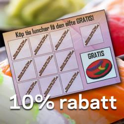 Köp 10 luncher, få den 11:e gratis!